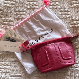 See By Chloe Red Cosmetic Pouch